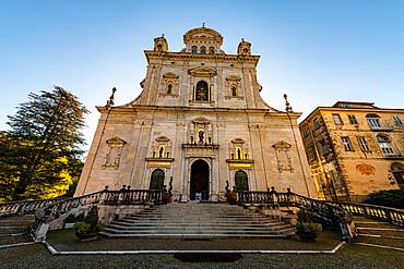 Basilica di Santa Maria Assunta, Unesco world heritage site Sacro Monte de Varallo, Italy