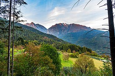 Unesco world heritage site Valcamonica, Italy