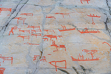 Unesco world heritage site the rock carvings of Alta, Norway