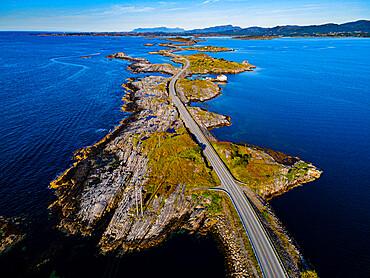 Aerial of the Atlantic Ocean Road, More og Romsdal county, Norway