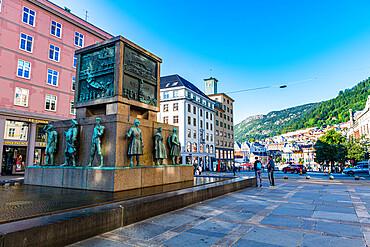 Sailors monument, Unesco world heritage site, Bergen, Norway