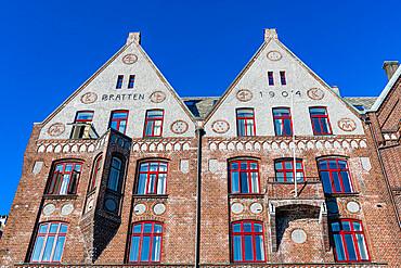 Bryggen, series of Hnaseatic buildings, Unesco world heritage site, Bergen, Norway
