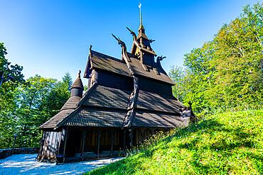Fantoft Stave Church Unesco world heritage site, Bergen, Norway