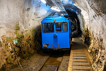 Funicular railway in Gausta or Gaustatoppen highest mountain in Norway, Telemark, Norway
