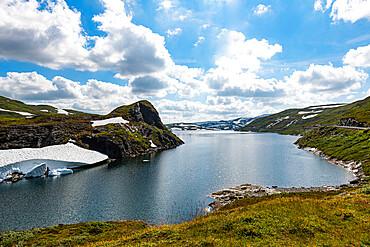 Glacial mountain lake near Skei, Norway