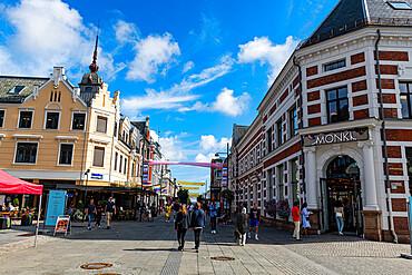 Pedestrian zone of Kristiansand, Norway