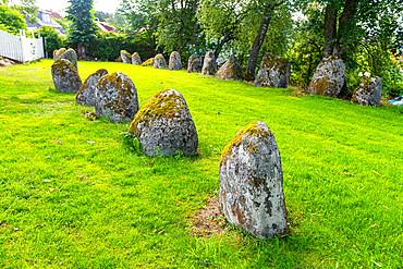 Viking ship???s grave from 10th, Kystriksveien Coastal Road, Norway