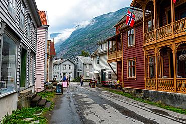 Historic houses in Laerdal, Vestland county, Norway