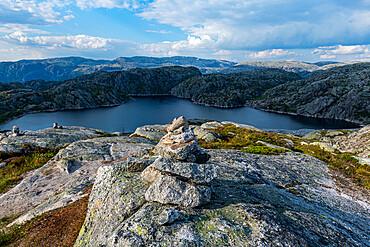Glacial lake near Lysefiord, Setesdalen, Norway