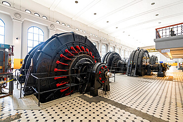 Old turbines in the Hydroelectric power station Unesco world heritage Industrial site Rjukan-Notodden, Norway