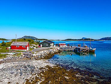 Little fishing hamlet, Nordkapp, Norway