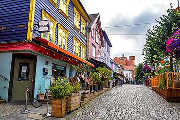 Colourful houses in Fargegaten, Stavanger, Norway