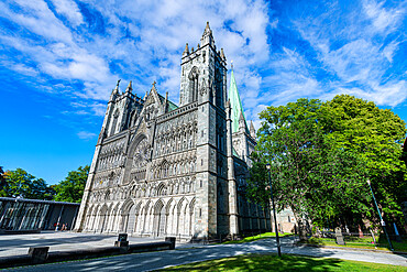 Facade of the Nidaros Cathedral, Trondheim, Norway