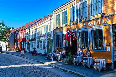Old houses in the Brubakken quarter, Trondheim, Norway