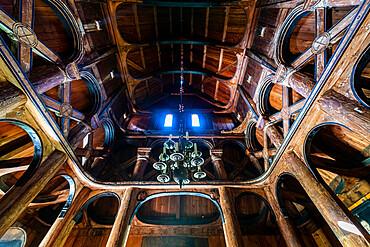 Interior of the Hopperstad Stave Church, Vikoyri, Norway