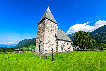 Hove stone church, Vikoyri, Norway