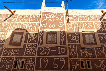 Beautiful house in the historic center of Agadez, UNESCO World Heritage Site, Niger, Africa