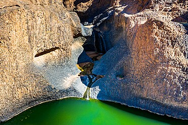 Timia waterfall, Oasis of Timia, Air Mountains, Niger, Africa