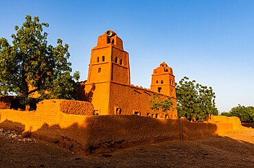 Sudano-Sahelian architectural style mosque in Yamma, Sahel, Niger