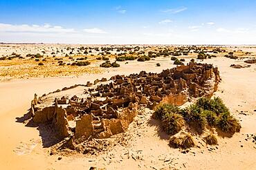 Old abandoned fort in Djado, Tenere Desert, Sahara, Niger, Africa