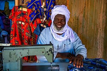 Tuareg Tailor in Dirkou, Djado Plateau, Niger, Africa