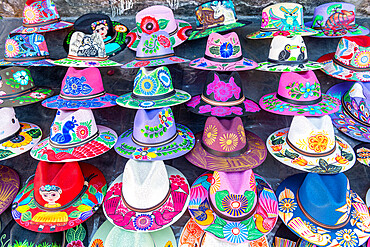 Colourful hats for sale, Cuernavaca, Mexico, North America