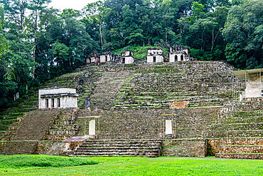 Ancient Maya archaeological site of Bonampak, Chiapas, Mexico, North America