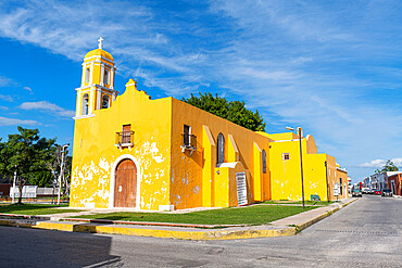 Guadalupe Church, the historic fortified town of Campeche, UNESCO World Heritage Site, Campeche, Mexico, North America