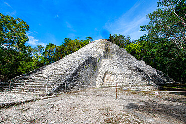 The archaeological Maya site of Coba, Quintana Roo, Mexico, North America