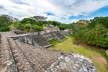 Yucatec-Maya archaeological site, Ek Balam, Yucatan, Mexico, North America