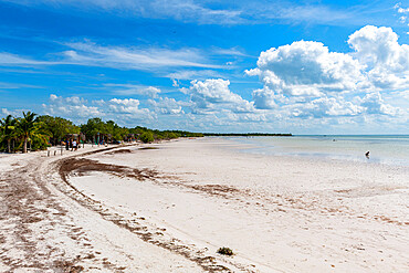 Turquoise waters and white sands of Holbox island, Yucatan, Mexico, North America