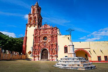 Landa Mission, UNESCO World Heritage Site, Franciscan Missions in the Sierra Gorda of Queretaro, Landa de Matamoros, Queretaro, Mexico, North America