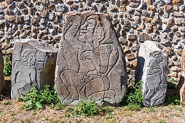 Stone carvings, Monte Alban, UNESCO World Heritage Site, Oaxaca, Mexico, North America