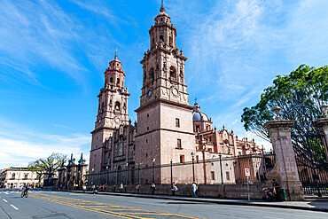 Morelia cathedral, Unesco site Morelia, Michoacan, Mexico
