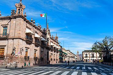Plaza de las Armas, UNESCO World Heritage Site, Morelia, Michoacan, Mexico, North America