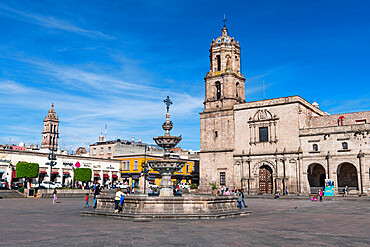 Valladolid Square and the San Francisco de Assisi square, UNESCO World Heritage Site, Morelia, Michoacan, Mexico, North America