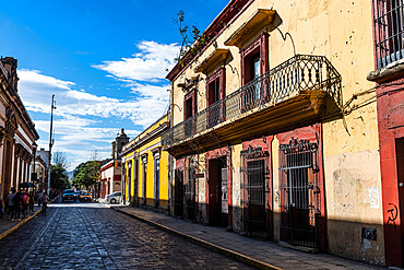 Colonial house, Oaxaca, Mexico, North America