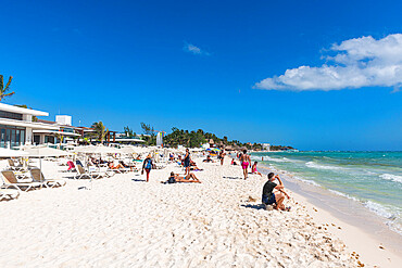 Beach in Playa del Carmen, Quintana Roo, Mexico, North America
