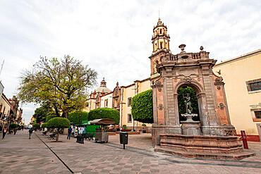 Neptune Fountain, Queretaro, Mexico, North America