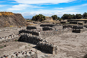 Mesoamerican archaeological site of Tecoaque, Tlaxcala, Mexico, North America