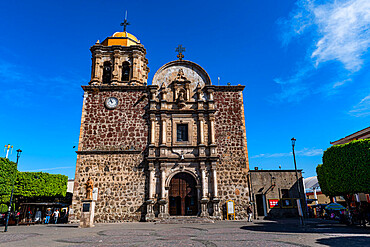 Parroquia Santiago Apostol, Plaza Principal Tequila, UNESCO World Heritage Site, Tequila, Jalisco, Mexico, North America