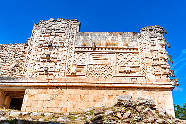 The Maya ruins of Uxmal, UNESCO World Heritage Site, Yucatan, Mexico, North America