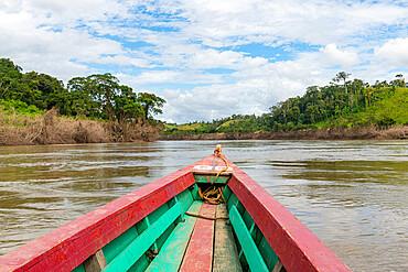 Boat on the Usumacinta River, Chiapas, Mexico, North America