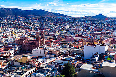 View over the UNESCO World Heritage Site, Zacatecas, Mexico, North America