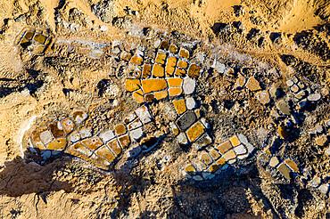 Aerials of the salt mines of Fachi, Tenere desert, Niger, West Africa, Africa