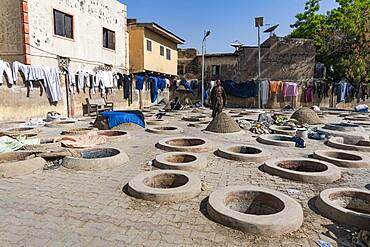 Dyeing pits, Kano, Kano state, Nigeria, West Africa, Africa