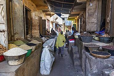 Spices for sale in the bazaar of Kano, Kano state, Nigeria