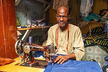 Tailor in Kano, Kano state, Nigeria, West Africa, Africa