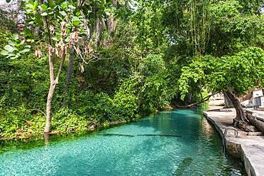 Turquoise Wikki warm springs, Yankari National Park, eastern Nigeria