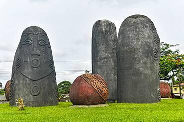 Akom monolith memorial, Calabar, Niger Delta, Nigeria, West Africa, Africa